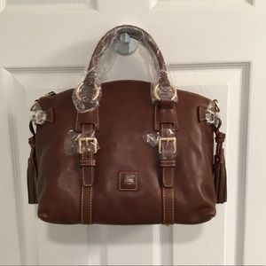 NWT Dooney Bourke Chestnut Bristol Satchel